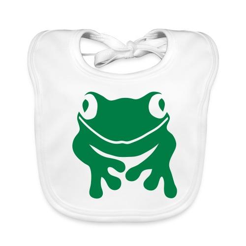 Bio Baby Lätzchen Frosch grün Tiershirt Shirt Tiermotiv - Baby Bio-Lätzchen