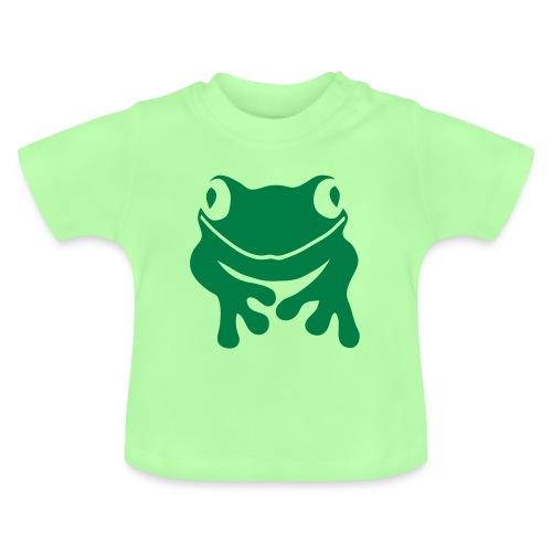 Baby Shirt Frosch grün Tiershirt Shirt Tiermotiv - Baby T-Shirt