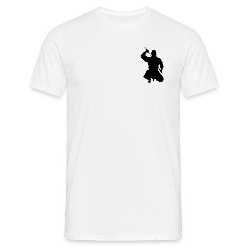 Herren T-Shirt kniender Ninja, weiß - Männer T-Shirt