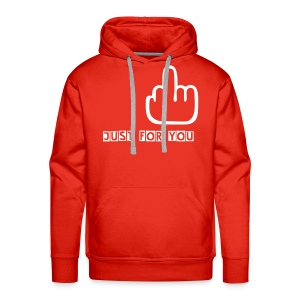 The Finger Hood (red) - Men's Premium Hoodie