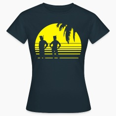 BEACH DIVING SUNSET PALME 1C T-Shirts