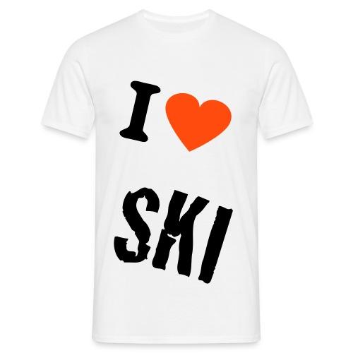 I ♥ Ski - Männer T-Shirt