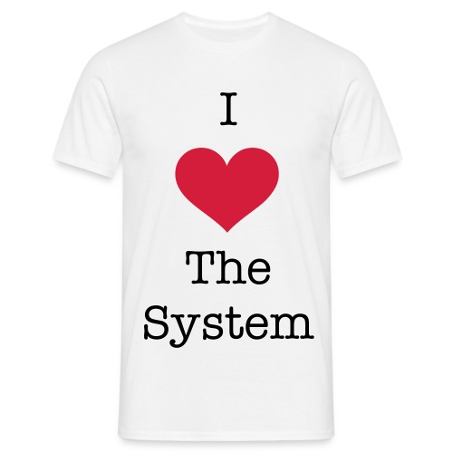 I <3 The System - Men's T-Shirt