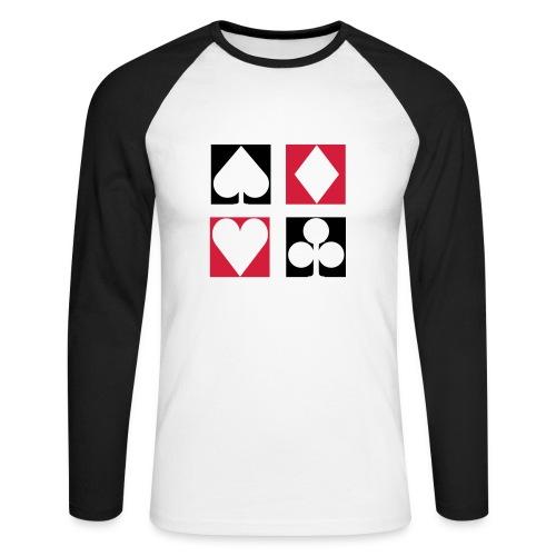 Poker [black]* - Raglán manga larga hombre