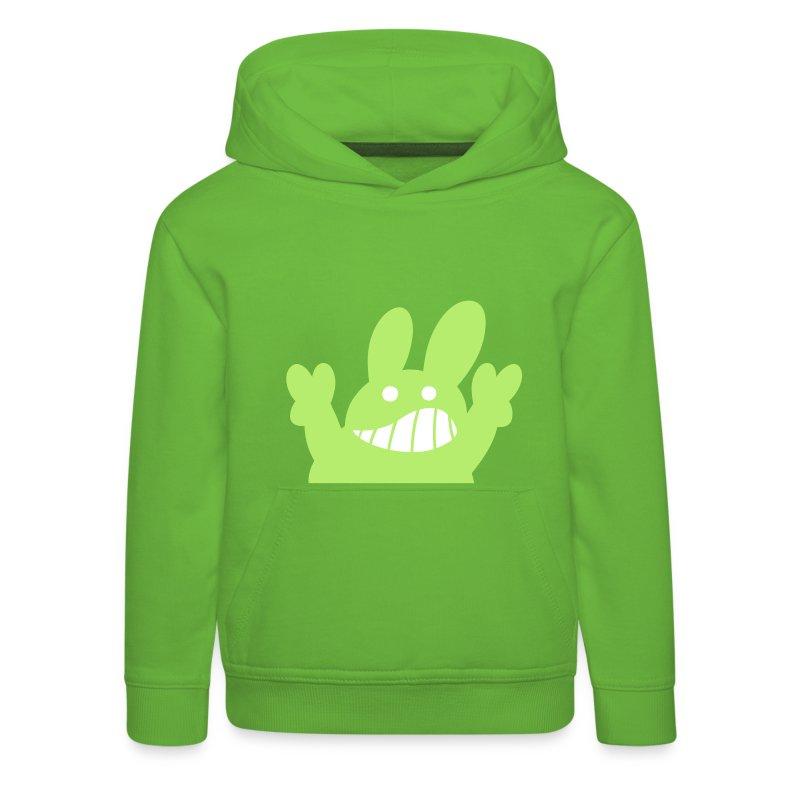 Hase Kapuzenpulli Grün Kids - Kinder Premium Hoodie
