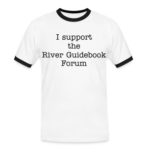 River Guidebook t shirt - Men's Ringer Shirt