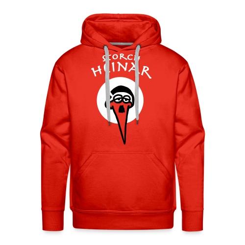 Storch Heinar - rundes Logo - Männer Premium Hoodie