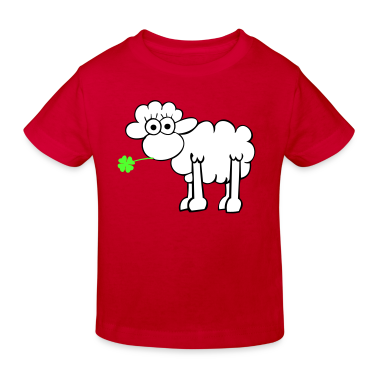 Sheep with clover Kids' Shirts