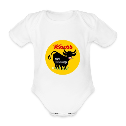 Schwarze Kuh Body - Baby Bio-Kurzarm-Body