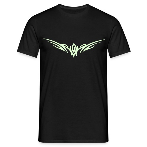 Mens T-Shirt - Glow In The Dark Tribal  - Men's T-Shirt