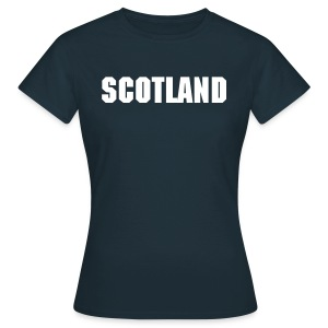 Ladies Navy Scotland Tee - Women's T-Shirt