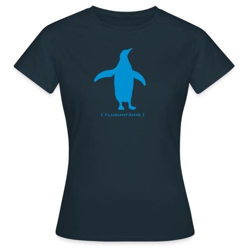 Damen Shirt Pinguin Vogel Flügel flugunfähig hellblau Tiershirt Shirt Tiermotiv - Frauen T-Shirt