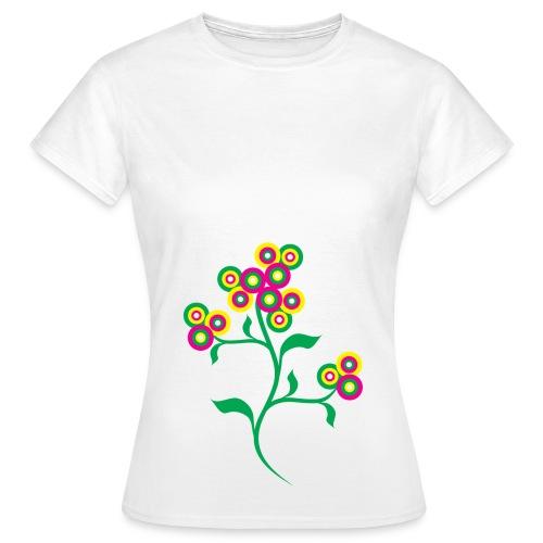 Flowr left f - Women's T-Shirt
