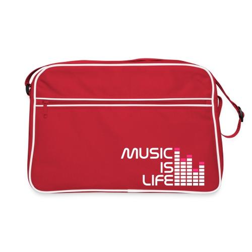 MUSIC IS LIFE - Torba retro