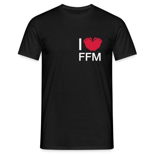 I love FFM (Bembel Edition) - Männer T-Shirt