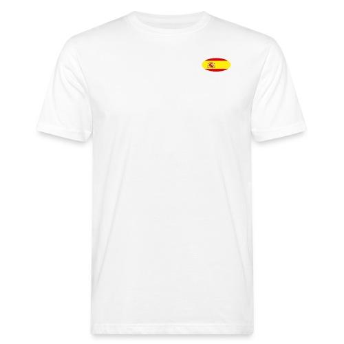 Men's Organic T-Shirt with Spain flag logo - Men's Organic T-Shirt
