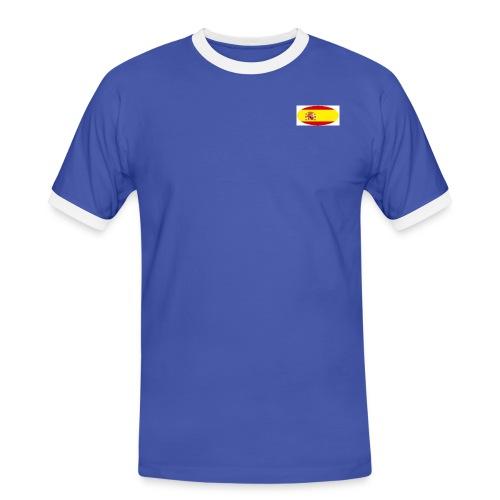 Men's football Shirt with Spain flag logo - Men's Ringer Shirt