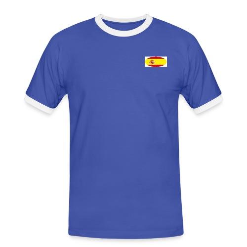 Men's Contrast T-Shirt with Spain flag logo - Men's Ringer Shirt