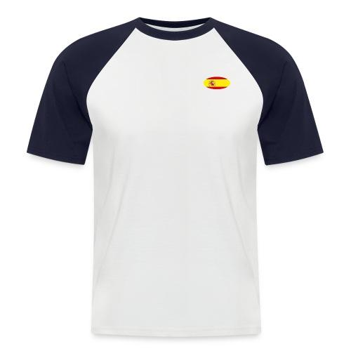 Men's Short sleeve Shirt with Spain flag logo - Men's Baseball T-Shirt