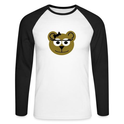 Lady bear - Men's Long Sleeve Baseball T-Shirt