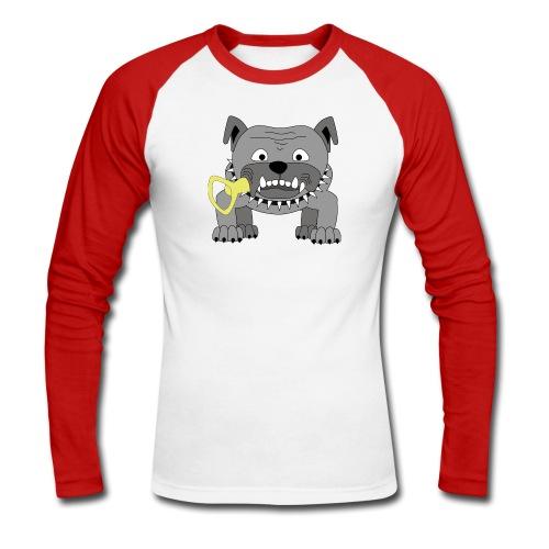 Hundeköter Männer langärmeliges Baseballshirt - Männer Baseballshirt langarm