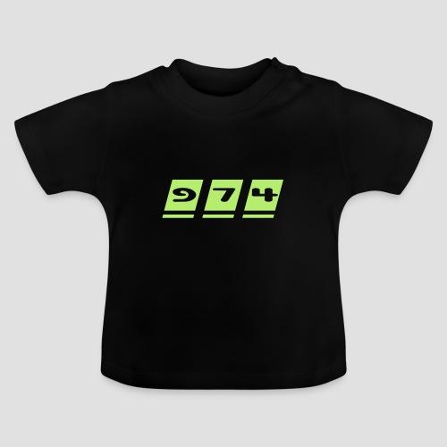 T-shirt Bébé écriture 974 - Réunion - T-shirt Bébé