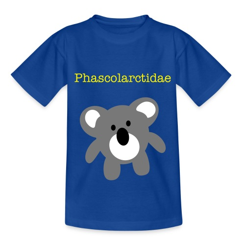 Phascolarctidae-royal blue - Teenage T-Shirt