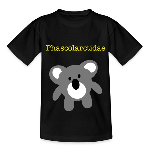 Phascolarctidae-black - Teenage T-Shirt