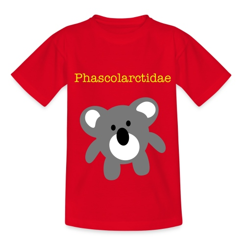 Phascolarctidae-red - Teenage T-Shirt