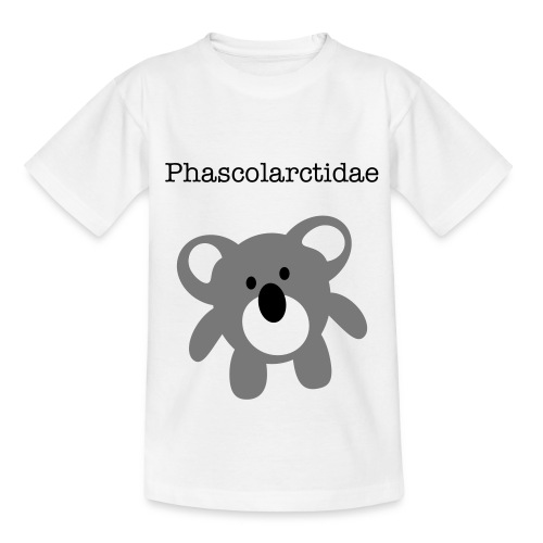 Phascolarctidae-white - Teenage T-Shirt