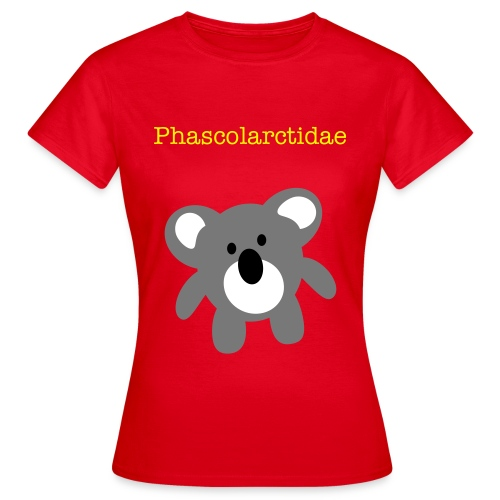 Phascolarctidae-red - Women's T-Shirt