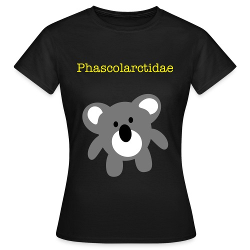 Phascolarctidae-black - Women's T-Shirt