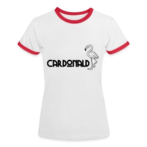 Cardonald Flamingo - Women's Ringer T-Shirt
