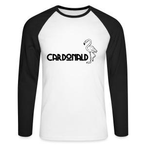 Cardonald Flamingo - Men's Long Sleeve Baseball T-Shirt