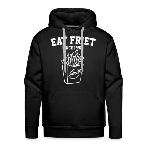 Eat Friet Hoodie White Logo - Mannen Premium hoodie