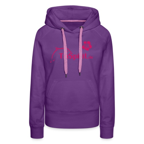 Cordula Kapuzenpulli pinkes Logo - Frauen Premium Hoodie