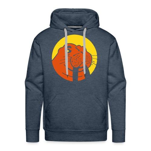 Walrus Hoodie Yellow/Orange Logo - Mannen Premium hoodie
