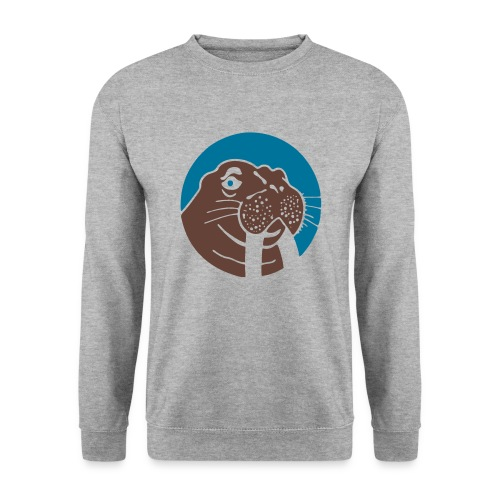 Walrus Crewneck Blue/Brown Logo - Mannen sweater