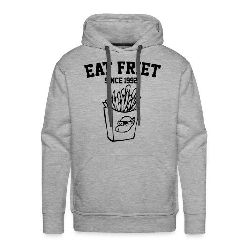Eat Friet Hoodie Black Logo - Mannen Premium hoodie