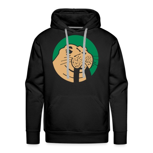 Walrus Hoodie Green/Beige Logo - Mannen Premium hoodie