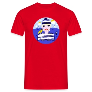 The sailor in love with the sea  - Männer T-Shirt