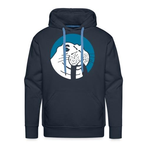Walrus Hoodie Blue/White Logo - Mannen Premium hoodie