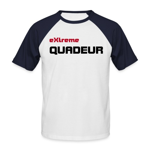 T-shirt extreme quadeur blanc/rouge - T-shirt baseball manches courtes Homme