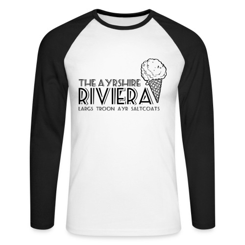Ayrshire Riviera - Men's Long Sleeve Baseball T-Shirt