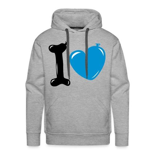 Sweat capuche (I LOVE) L.LOKS - Sweat-shirt à capuche Premium pour hommes