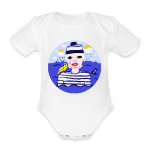 The sailor in love with the sea - Baby Bio-Kurzarm-Body