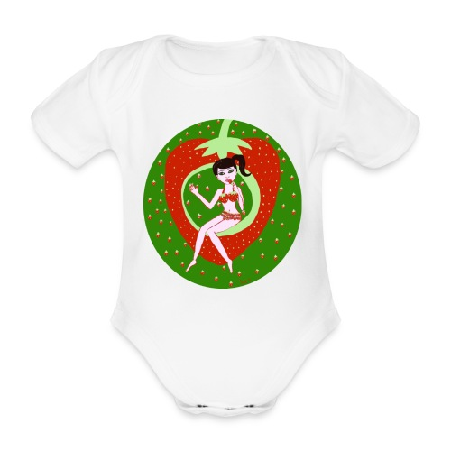 Strawberry Girl  - Baby Bio-Kurzarm-Body