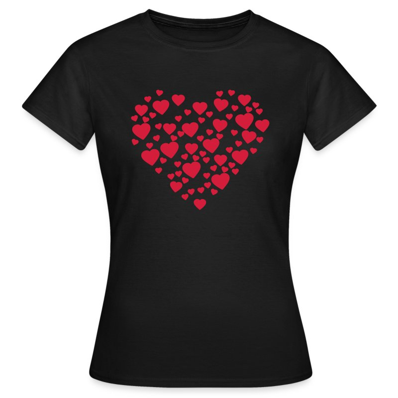 Womens Love Heart T-shirt - Women's T-Shirt