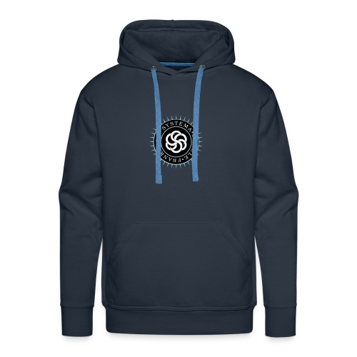 Männer - Hoodie navy, Systema Logo vorne - Männer Premium Hoodie