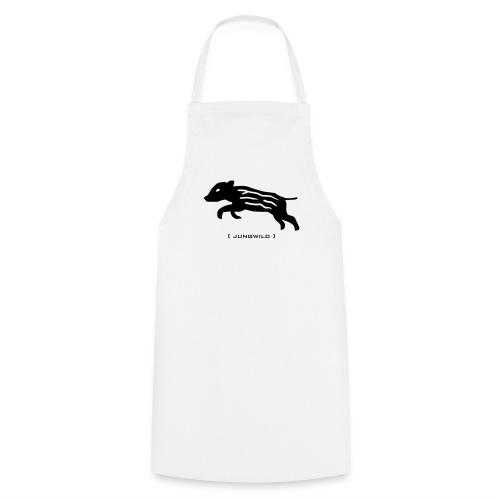 Grillschürze  Kochschürze für den Grillmeister Jungwild Wildschwein Ferkel schwarz - Kochschürze